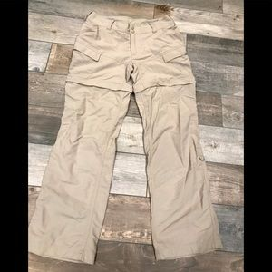 The North Face hiking convertible pant/short Sz 8